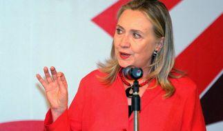 Hillary Clinton hat Wladimir Putin während einer Rede indirekt mit Adolf Hitler verglichen. (Foto)