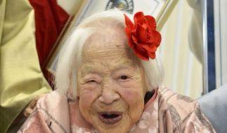 Misao Okawa wurde im 19. Jahrhundert geboren - und feiert nun ihren 116. Geburtstag. (Foto)