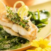 Auftakt zum Fasten: Zander mit Spinat und Basilikumschaum (Foto)