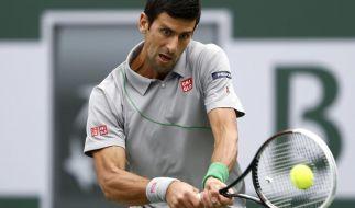 Djokovic nach Dreisatzsieg im Achtelfinale (Foto)