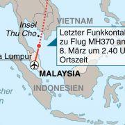 Malaysias Militär empfing Signal von unbekanntem Flugzeug (Foto)
