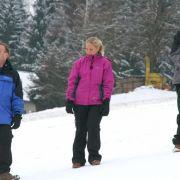 Müssen um die Wette rodeln: (v.l.n.r.) Ralf, Nicole und André ...