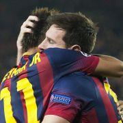 Barcelona sicher ins Viertelfinale - 2:1 über ManCity (Foto)