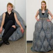 Aus Sessel wird Kleid - Recycelbare Mode von jungen Designern (Foto)
