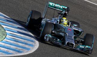 Gegen Nico Rosberg in seinem Silberpfeil hatte niemand eine Chance. (Foto)