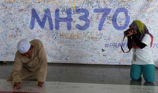 Gute Wünsche für die 239 verschollenen Menschen an Bord des Fluges MH370. (Foto)