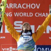 Freund endlich am Ziel: WM-Gold im Skifliegen (Foto)
