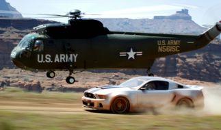 Wer ist schneller: Helicopter oder Speedcar? (Foto)
