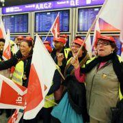 Noch keine Tarif-Einigung für Flughafen-Sicherheitsleute (Foto)