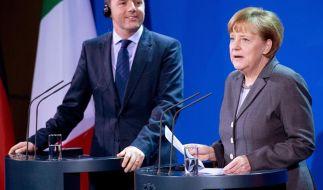 Merkel mahnt Italien bei Reformkurs zu Geduld (Foto)