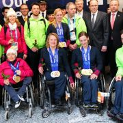 Deutsches Paralympics-Team verspätet zurückgekehrt (Foto)