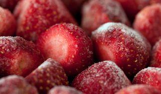 Gefrorene Erdbeeren aus China verursachten 2012 Durchfall bei tausenden Schülern. (Foto)