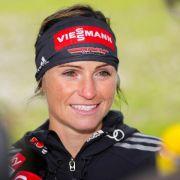 Karriere-Ende für Biathletin Henkel in Oslo (Foto)