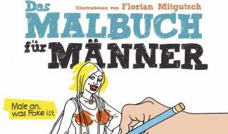Der kreative Herr darf sich endlich austoben. Das «Malbuch für Männer» von Forian Mitgutsch ist die ideale Spielwiese. (Foto)