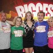Die Finalisten Matthias (l.), Sabrina (2.v.l.), Marc (2.v.r.) und Nicole (r.) mit Coach und Moderatorin Dr. Christine Teiss.