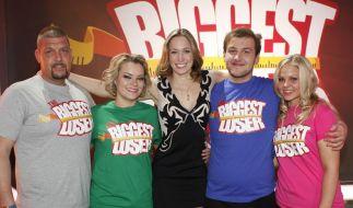Die Finalisten Matthias (l.), Sabrina (2.v.l.), Marc (2.v.r.) und Nicole (r.) mit Coach und Moderatorin Dr. Christine Teiss. (Foto)