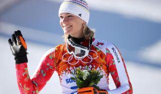 Maria Höfl-Riesch kehrt dem Profisport den Rücken und beendet ihre Karriere. (Foto)