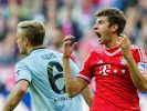 Schoss beim 4:1-Sieg des FC Bayern im Hinspiel zwei Tore: Thomas Müller. (Foto)