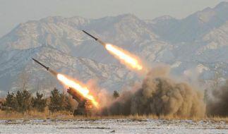 Nordkorea feuert erneut Raketen von kurzer Reichweite ab (Foto)