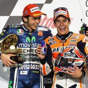 Altmeister gegen Jungstar: Rossi und Marquez dominieren Katar-Rennen (Foto)