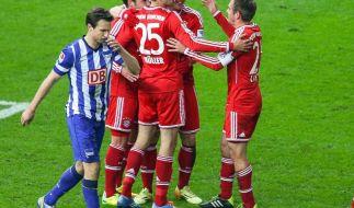 Bayern-Schaulaufen zum Turbo-Titel: 3:1 gegen Hertha (Foto)