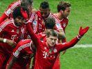 Toni Kroos eröffnete mit seinem Tor die Meisterfeier des FC Bayern. (Foto)