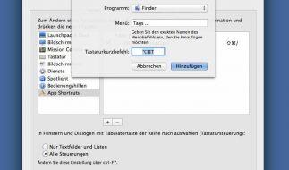 Tags für Dateien und Ordner unter Mac OS X (Foto)