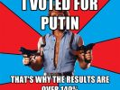 Chuck Norris ist unbesiegbar, allwissend und allmächtig. Auf einem Chuck-Norris-Meme ist seine Stimme der Grund für über 140 Prozent für Wladimir Putin. (Foto)
