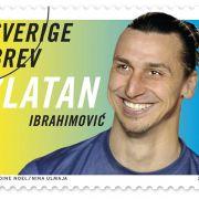 Star zum Aufkleben: Ibrahimovic als Briefmarke (Foto)