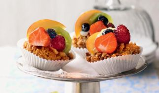 Crumble-Cupcakes «Tutti frutti» (Foto)