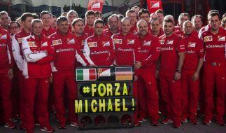 72 Mal Wünsche und Hoffnungen: Ferraris «ForzaMichael» (Foto)