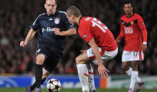 2010 zitterten sich Franck Ribéry & Co. beim 2:3 im Old Traffort weiter. (Foto)
