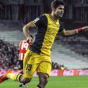 Atlético-Stürmer Costa droht auszufallen (Foto)