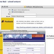 Phishing-Mails im Namen von Sparkasse, Postbank und Paypal (Foto)