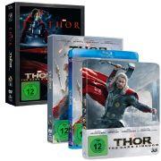 Seit dem 20. März 2014 gibt des nicht nur «Thor - The Dark Kingdom» auf 3D-Blu-ray, Blu-ray und DVD, sondern auch ein Doppelpack zusammen mit dem ersten Teil.