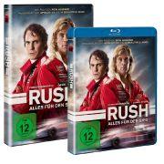 Blu-ray und DVD zu «Rush - Alles für den Sieg» sind seit dem 28. März 2014 im Handel erhältlich.