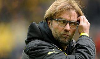 Dortmunds Trainer Jürgen Klopp ist stinkig. (Foto)