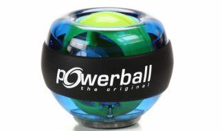 Beim Basic-Modell des Powerballs gibt es noch kein Display für die Geschwindigkeiten. Dem Spaß beim Training tut dies keinen Abbruch. (Foto)