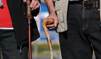 Wandern im Frühling: Stöcke geben Halt an rutschigen Hängen (Foto)