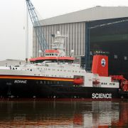 Neues Forschungsschiff «Sonne» verlässt Baudock (Foto)