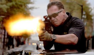 Schwarzenegger schießt in «Sabotage» wieder (Foto)