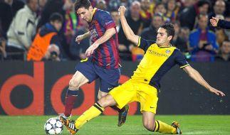 Stoppt Atletico Zauberer Messi? (Foto)