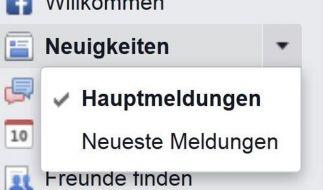 Meldungsfilter bei Facebook abschalten (Foto)