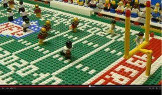 Täuschend echt: Das Lego-Finale des Super Bowl. (Foto)