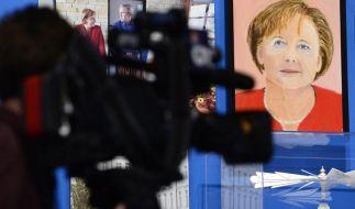 Angela Merkel durch die Augen von George W. Bush. Ob die Kanzlerin sich das hätte träumen lassen? (Foto)