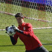 Atlético-Torwart Courtois darf gegen Chelsea spielen (Foto)