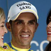Contador hat vor Zeitfahren 12 Sekunden Vorsprung (Foto)