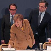 Merkel spricht Griechen Mut zu (Foto)