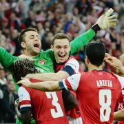 Arsenal nach Sieg gegen Wigan im FA-Cup-Endspiel (Foto)