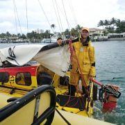 Österreicher segelt in winzigem Boot allein nach Amerika (Foto)